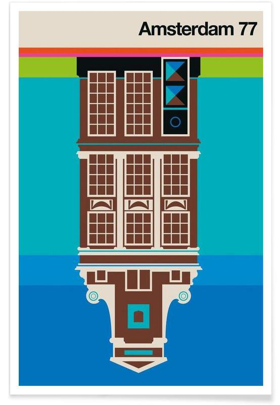 Retro, Amsterdam, Vintage Amsterdam 77 poster