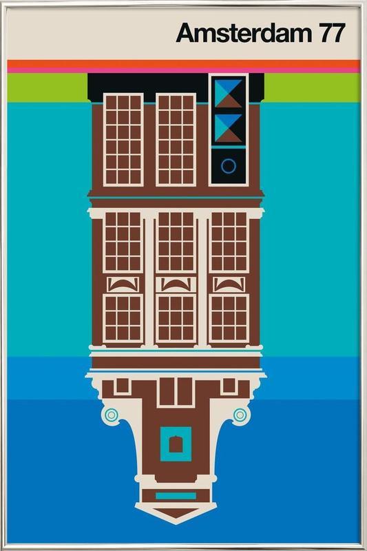 Amsterdam 77 Poster in Aluminium Frame