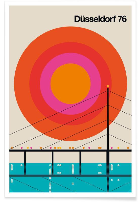 Vintage-Düsseldorf 76 -Poster
