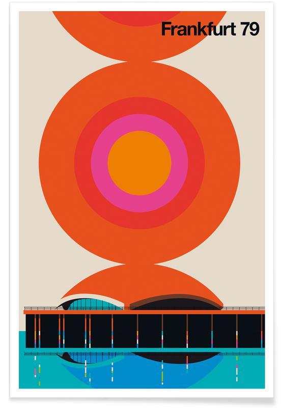 Francfort, Rétro, Francfort 79 vintage affiche