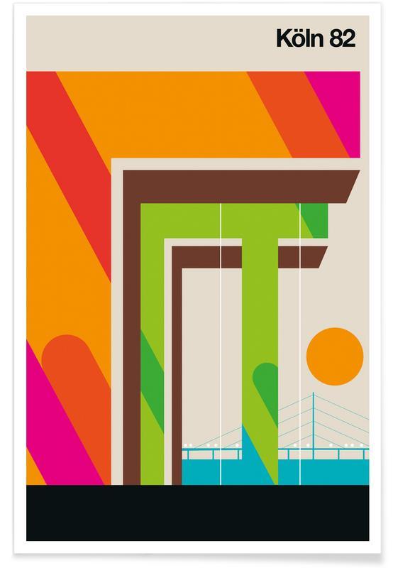 Rétro, Cologne 82 vintage affiche