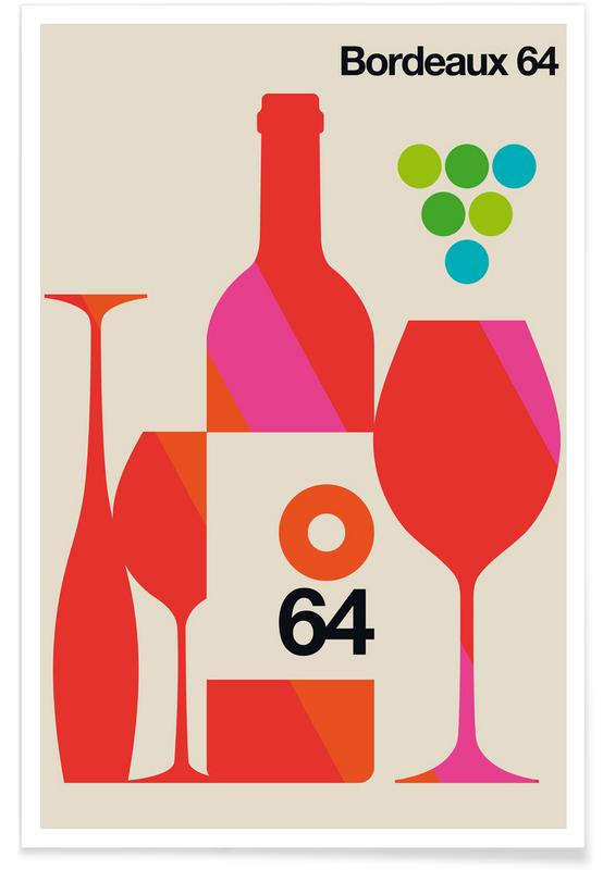 Vins, Voyages, Bordeaux vintage affiche