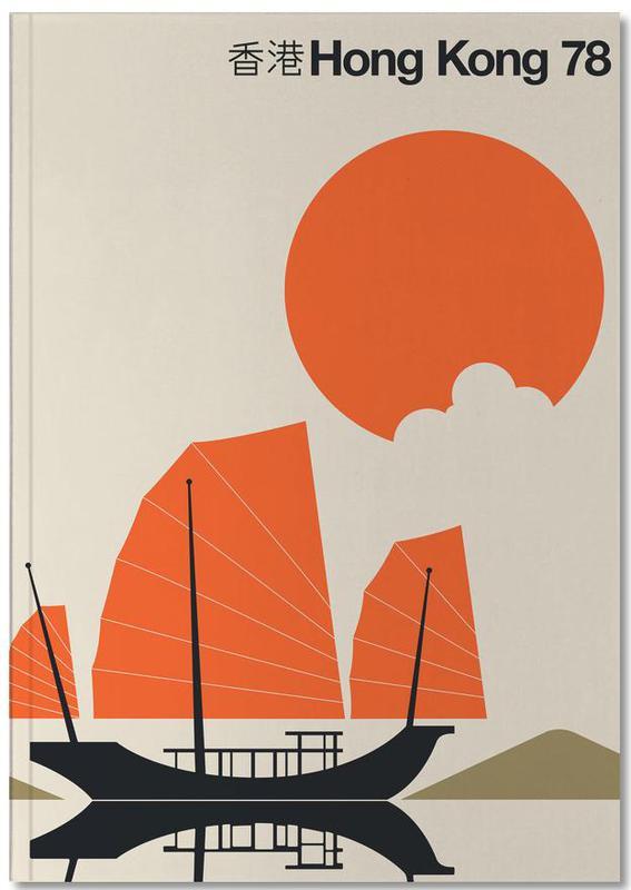 Boats, Travel, Hong Kong, Hong Kong 78 Notebook