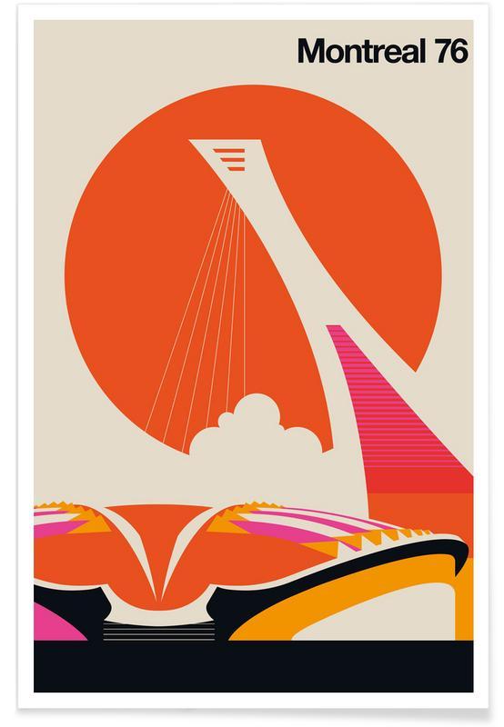Reise, Vintage-Montreal -Poster