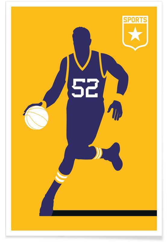Basket-ball, Basket-ball - Silhouette affiche
