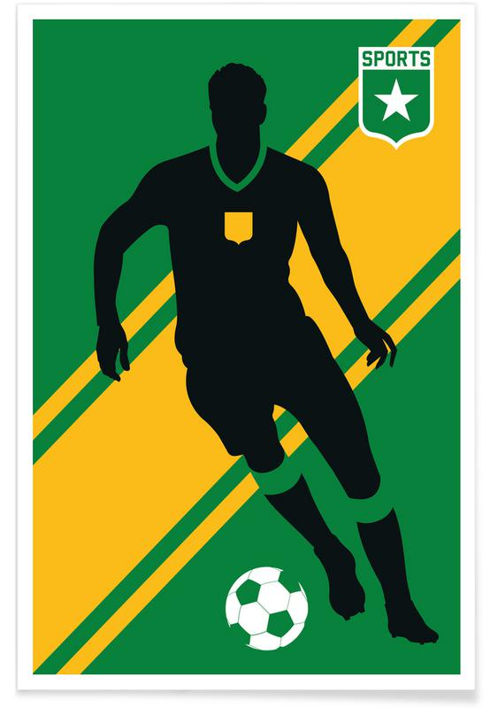 Voetbal, Voetbal - silhouet poster