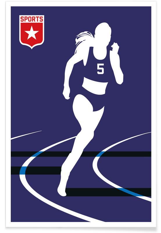Läufer-Silhouette -Poster