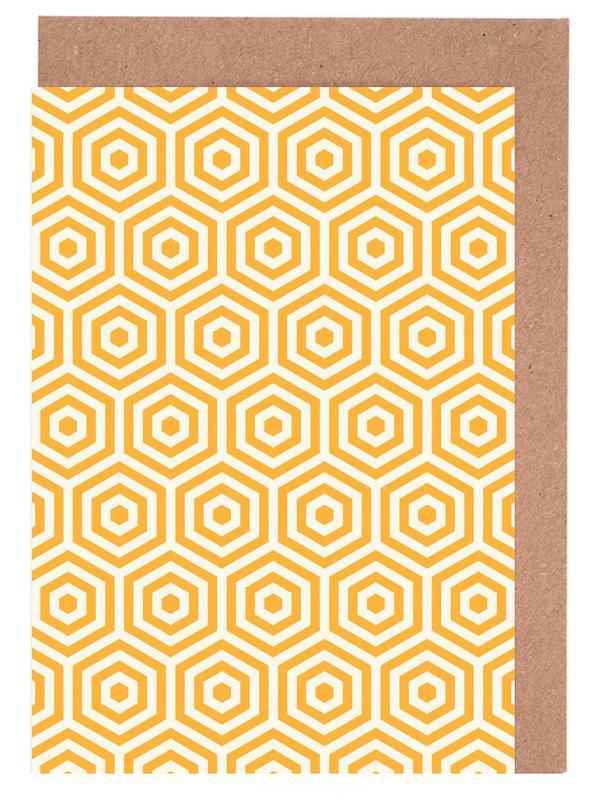 Yellow Beehive Greeting Card Set