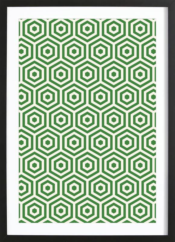 Green Beehive Framed Print
