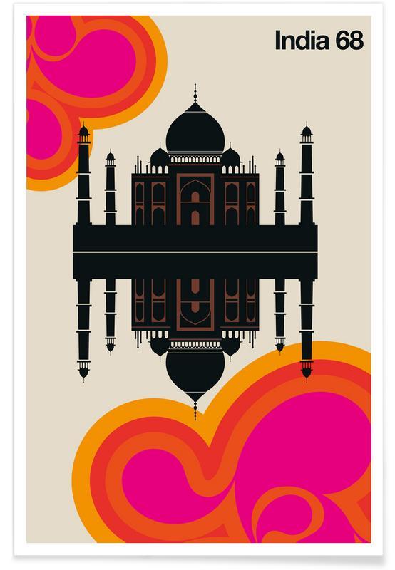 Travel, Vintage India 68 Poster
