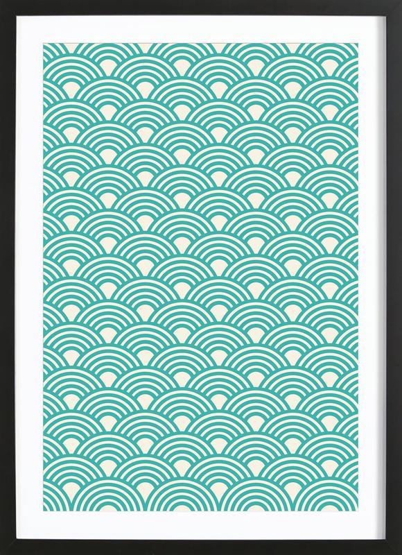 Eastern Waves Light Framed Print
