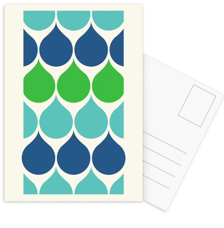Raindrops Postcard Set