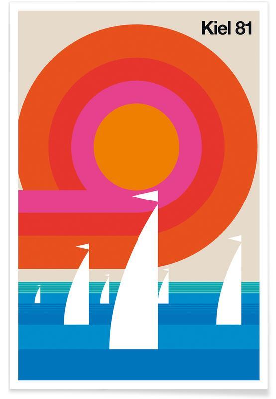 Retro, Vintage Kiel 81 Poster