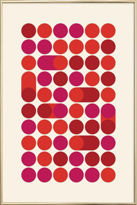 Red Bleep Poster in Aluminium Frame