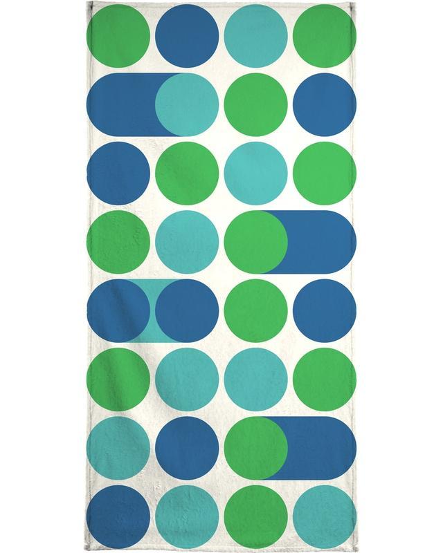 Motifs, Blue Beep serviette de plage