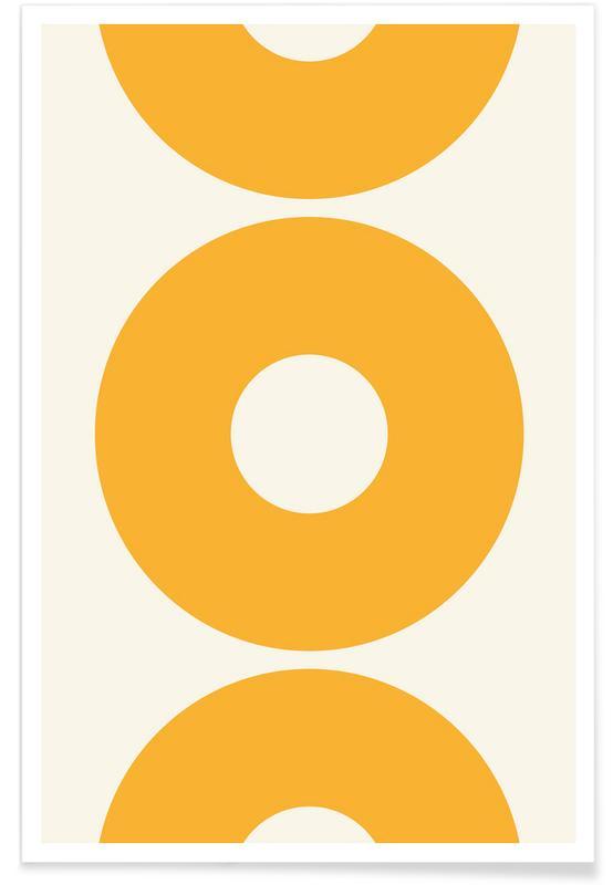 Cercles jaune soleil affiche