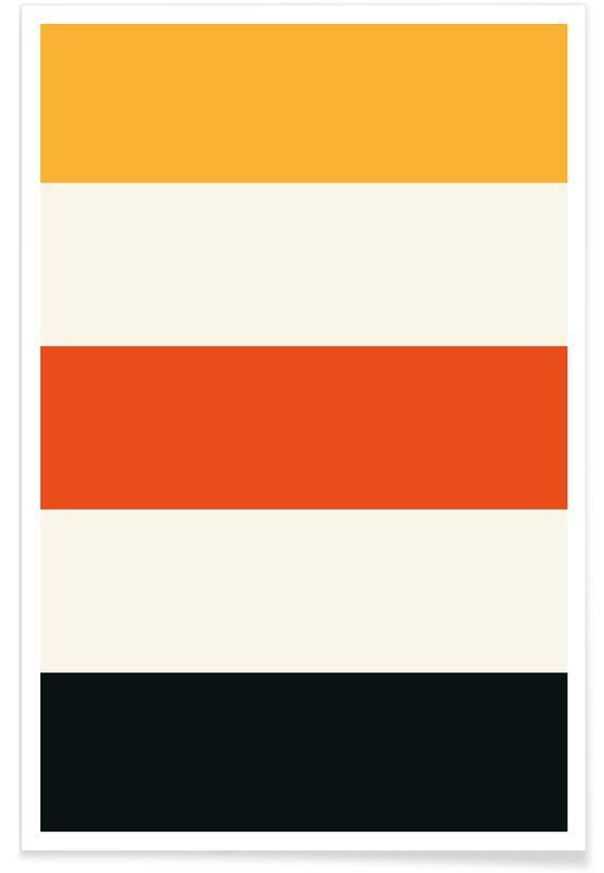 Schwarze und orangefarbene Streifen -Poster