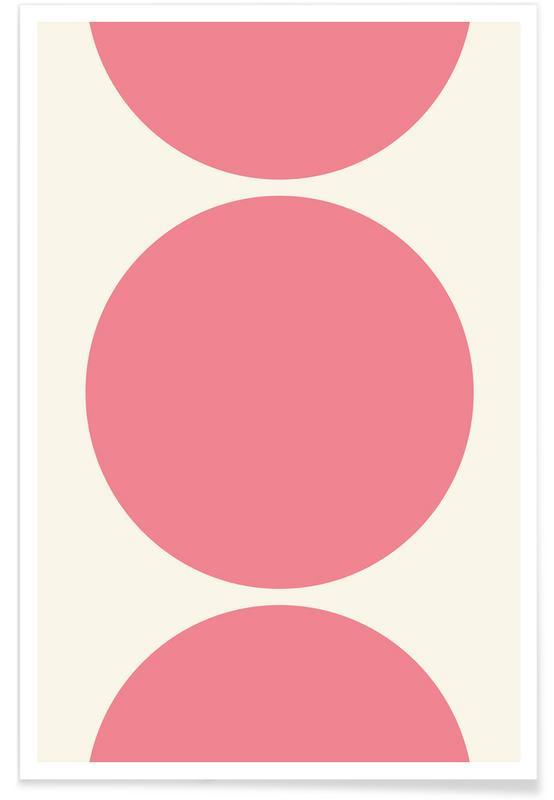 Rosa Mond-Kreise -Poster