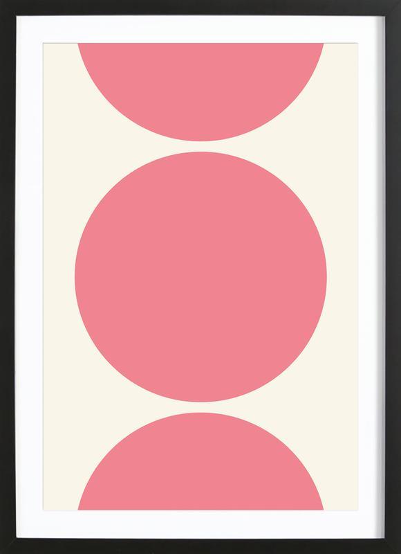 Pink Moon affiche sous cadre en bois