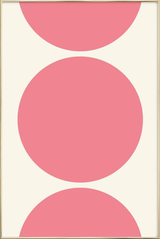 Pink Moon Poster in Aluminium Frame