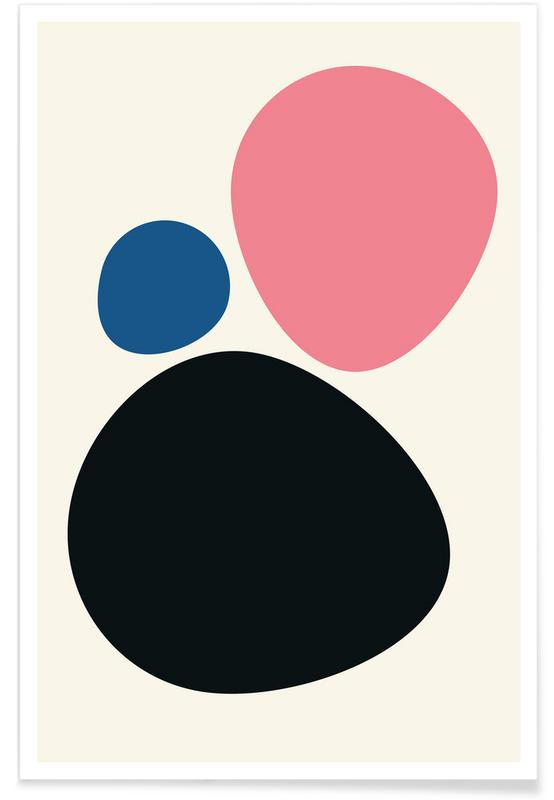 Multicolour Pebbles Poster
