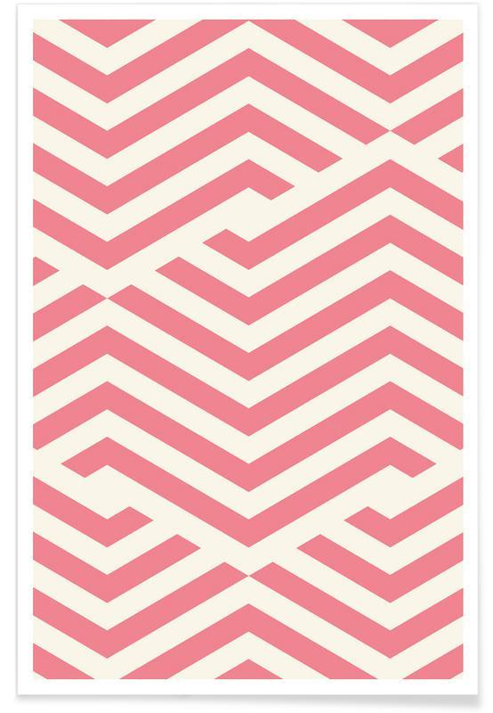 Rosa Winkellinien -Poster