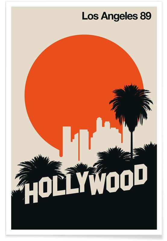 Los Angeles, Voyages, Los Angeles 89 vintage affiche