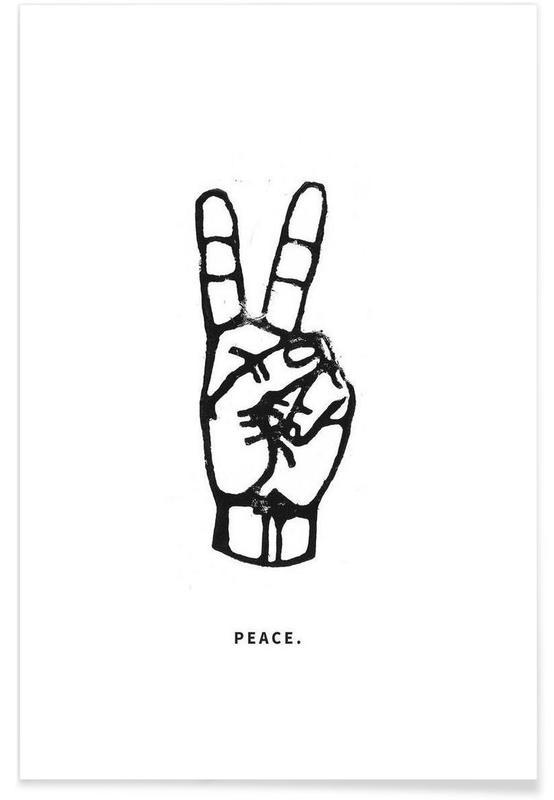 Sort & hvidt, Citater & sloganer, Peace Plakat