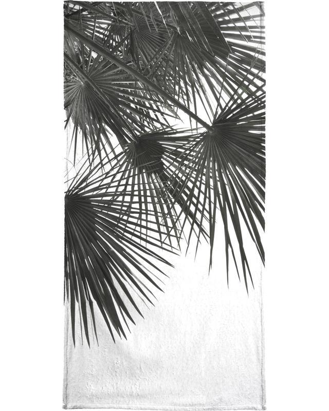 Noir & blanc, Palmiers, Endless Summer - Wind serviette de plage