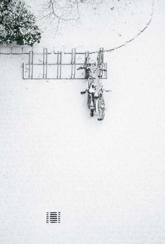 Winter White Bikes Acrylic Print