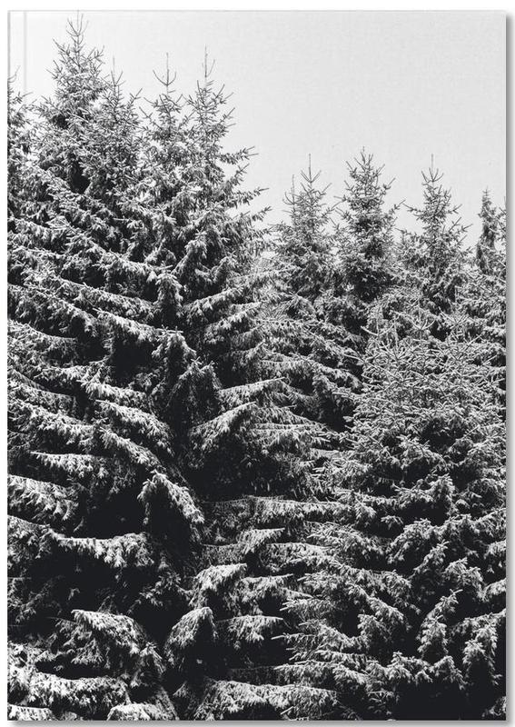Snowy Christmas Trees Notebook