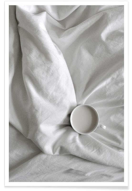 Noir & blanc, Coffee Time in Bed - You & Me affiche