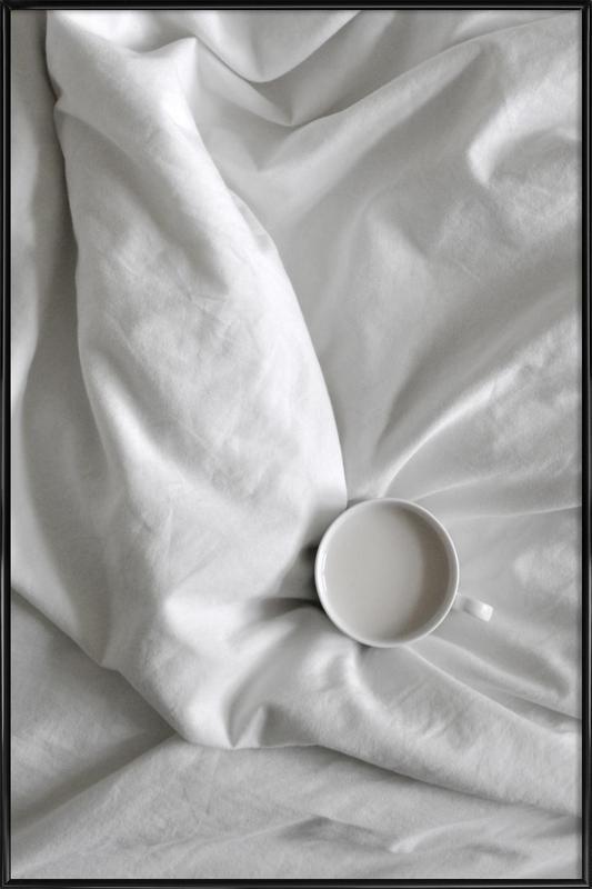 Coffee Time in Bed - You & Me -Bild mit Kunststoffrahmen
