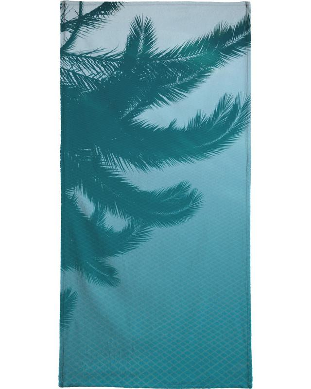 Palms In The Pool Beach Towel