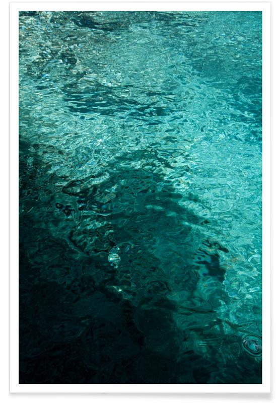 """Ozeane, Meere & Seen, Reise, """"50 Shades of Water"""" -Poster"""