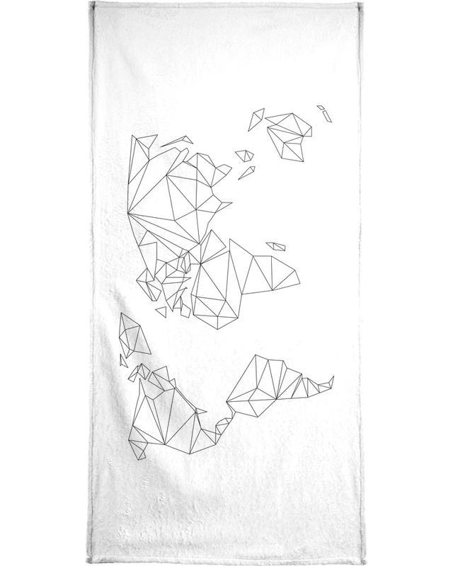 Geometrical World - white Bath Towel