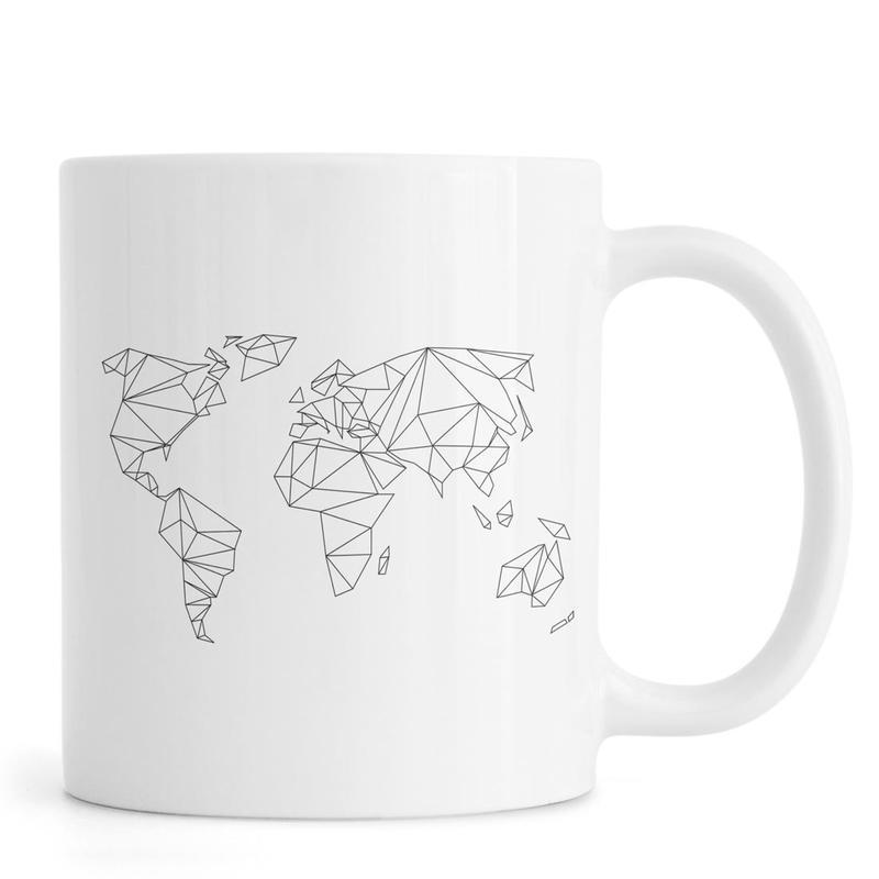 Geometrical World - white -Tasse