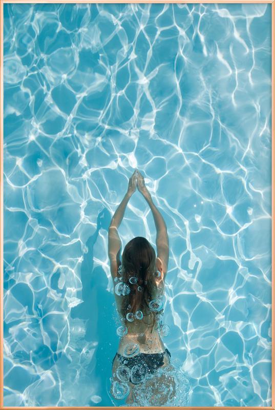 Liquid LOVE -Poster im Alurahmen