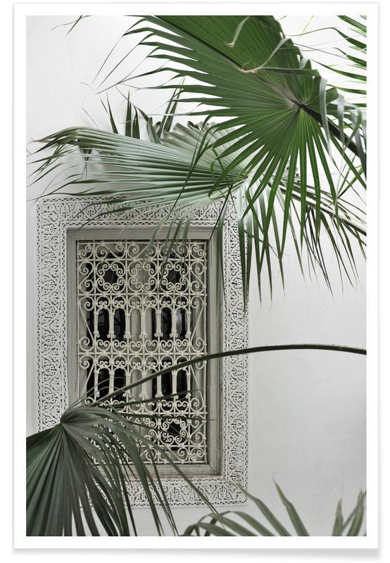 Architectural Details, Leaves & Plants, Orient Garden Dreams Poster