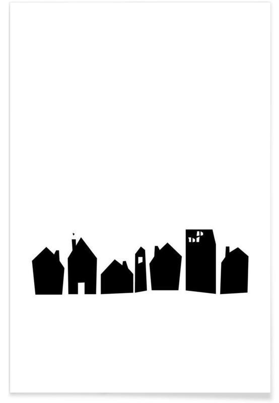 Art pour enfants, Skylines, No Place Like Home affiche