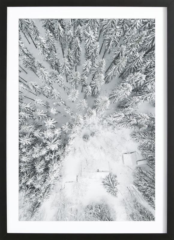 Calm Winter affiche sous cadre en bois
