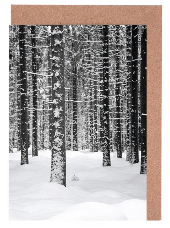 Deep Dark White Forest Greeting Card Set