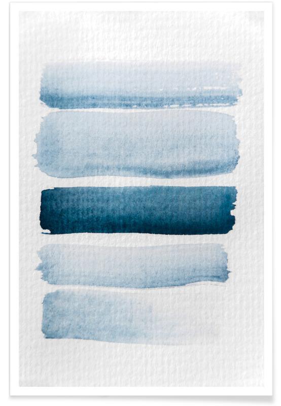 Aquarelle Meets Pencil - Stripes Poster