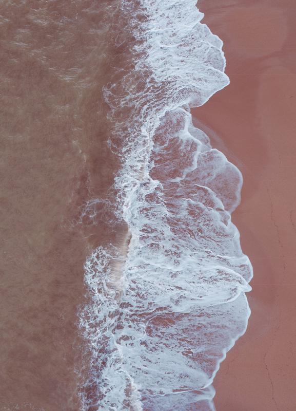 Blush Beach -Leinwandbild