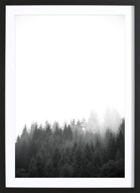Walk Through The Forest -Bild mit Holzrahmen