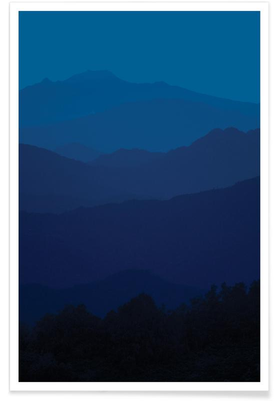 In The Mounbtains Classic Blue affiche