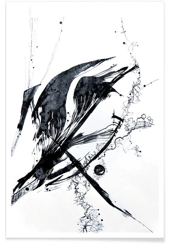 Ink Meets Paper Black affiche