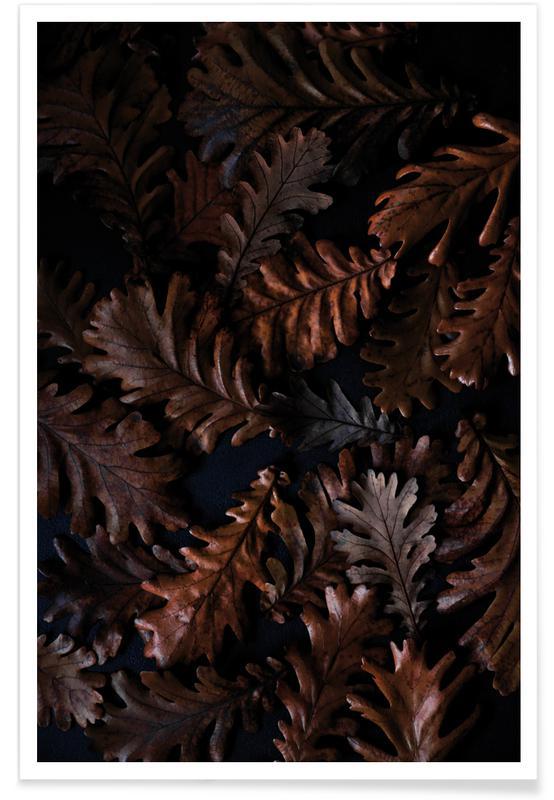 Blätter & Pflanzen, Moody Autumn Leaves -Poster