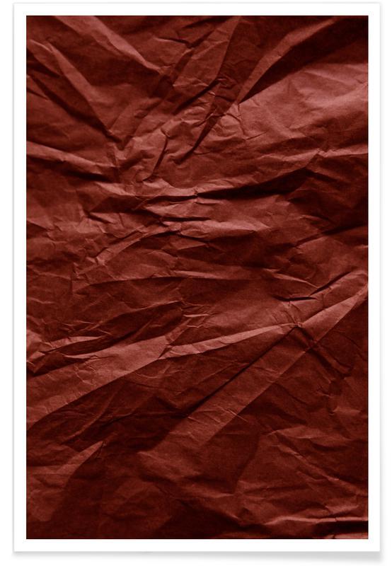 , Terra Cotta Paper Landscape Poster
