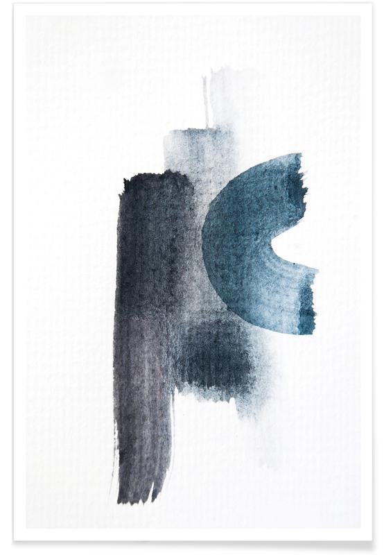 , Aquarelle Meets Pencil Strokes poster